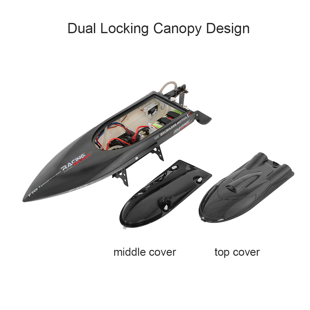 Feilun FT011 2.4G 55kmh High Speed RC Boat Racing Boat with Water Cooling Flipped Self-righting Function Ship Speedboat Toys (18)