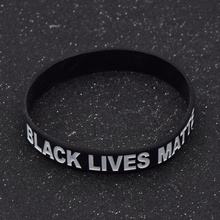 Black Lives Matter Silicone Wrist Band Bracelet Cuff Wristband Rubber Bracelet Unisex Jewelry