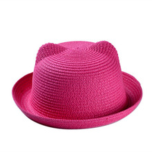 The new fashion in the summer Lovely cat straw hat Sun hat cool comfortable and quick recovery(China)