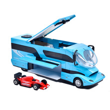 Die-cast Metal Children Toys Car Model Vehicle Kaiwei 1619 Alloy Assemble Touring Bus RV Camper with mini Cars(China)