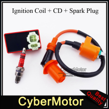 Racing ignition coil 6 pin ac cdi box candela a7tc adattarsi cinese gy6 50cc 125cc 150 cc motore del ciclomotore scooter