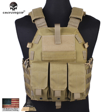 Emersongear Tactical Vest Airsoft Combat 094K M4 Pouch Vest Emerson Gear Military Equipment EM7356A Khaki KK