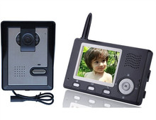 "2.4GHz Wireless Intercom Systems - 3.5"" Doorbell Monitor and Waterproof Security Camera"