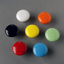 Baby Kids Children room Cabinet drawer Pulls Knobs Handle Ceramic Dia 32mm, Red White Black Green Orange Yellow Blue(China)
