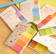 5Pcs/Set Fashion Rainbow Colored Sticky Notes Cute Book Design Memo Pads Message Post Office And School Stationary Best Gift