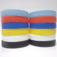 600pcs 3D LOGO Derrick Rose wristband silicone bracelets free shipping by DHL express