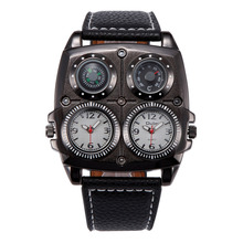 4 Dial Display Military Watch Compass Thermometer Men Sport Watch relojes militares hombre 2017 relogios masculino