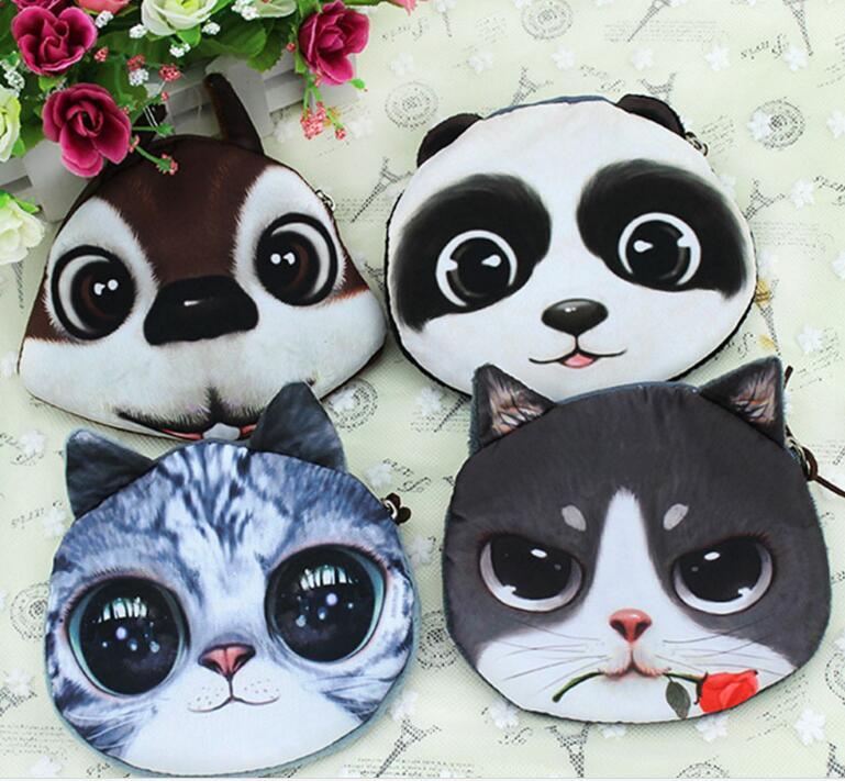 M401 Cute Meow Star Dog Buckle Plush Puppy Kitten GIRLS PURSE 3D Simulation Small Wallet Women Girl Student Gift Wholesale<br><br>Aliexpress