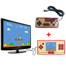 Classic Retro Handheld Game Console children's video game player 600 Games+128 games in Card 2nd Player Controller for FC pocket(China)