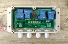 Dual axis solar tracking controller, intermediate relay module, intermediate relay control panel, high current