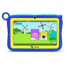 YUNTAB 7inch Q88R kids tablet PC,parental control software and support  iWawa 3D game HD video kids tablet with chic stand case