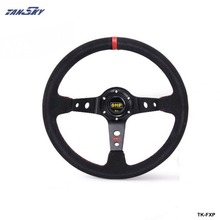 TANSKY -Steering Wheel 14 inch 350mm Racing Car Steering Wheel Suede Leather Drifting Steering Wheels TK-FXP-AF(China)
