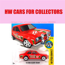 Hot Sale Hot Wheels 1:64 2016 ford escort rs 1600 red cars Models Metal Diecast Car Collection Toys Vehicle For Children(China)