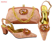Buy peach nigerian shoes and bag and get free shipping on AliExpress.com