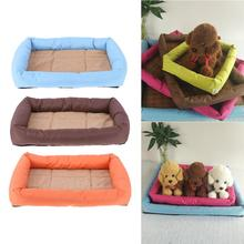 Pet Bed Oxford Cloth Pet Dog Bed Mat Cushion Waterproof Dog Kennel Warm Winter Basket Pad Pet Supplies Dogs Bed(China)