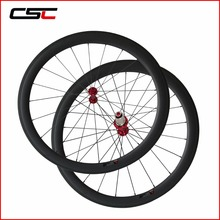 Ruedas de carbono de China 23 Anchura 50mm Tubeless Cyclocross Carbon Wheelset de La Bicicleta Con Powerway R13 Hub