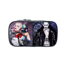Suicide Squad Pencil Joker Case Harley Quinn Make up Bags Casual Pencil Coin Case Stationery For Children School Supplies Wallet(China)