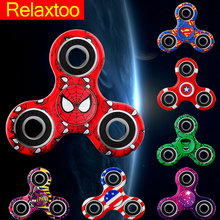 New 13 Patterns Colorful Spinner Super Hero Fidget Tri Spinner Toy Hand EDC Puzzle Spiner Hand For Autism ADHD Adult Kids Gift