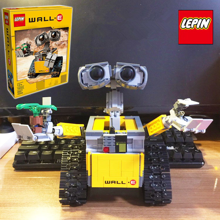 LEPIN 16003(687pcs) ideas Robot WALL E Movie PIXAR Action Figures Assemble Model Building Blocks minifig Kids Toys Gifts<br><br>Aliexpress