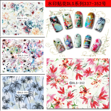 100pcs/lot Free Shipping DLS337-352 Korea Japan leopard pattern Nail Sticker Decal no paper card