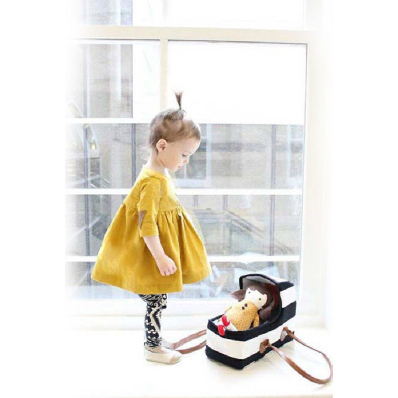 New Baby girls yellow cute Dress long sleeve cotton Princess Dresses baby kids clothes autumn children clothing kids clothes<br><br>Aliexpress