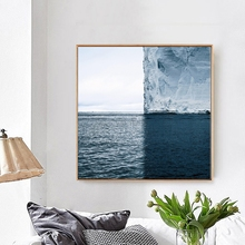 Unframed Iceberg Poster Scandinavian Canvas Painting Nordic Art Print Seascape Wall Picture For Living Room Modern Home Decor