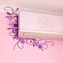 DIY Fashion trend wall stickers ofhead air conditioning flower decoration stickers wall stickers 3001