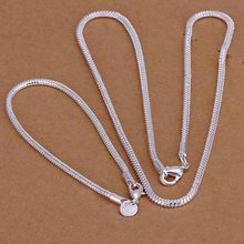 925 jewelry silver plated jewelry set,925-sterling-silver  fashion jewelry set 3Mm Snake Bone Chain /dgfalxma conalfua S076