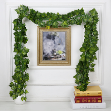 1.8M 3 Style Artificial Plants Green Lvy Leaves Artificial Grape Vine Fake Leaves Home Wedding Decoration DIY Wreath Flower