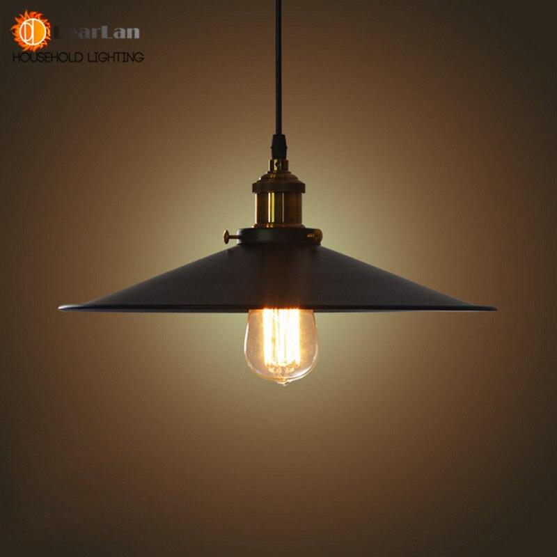 Fashional Pendant Lights,22CM/26CM/36CM E27 Vintage American Country Style,Black Shade Pendant Lights Club Bedroom Lights(MD-52)<br><br>Aliexpress
