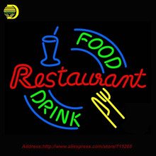 Hot Food And Drink Restaurant Neon SIGN Neon Bulb Recreation Bar Glass Tube Handcraft Advertise Affiche Neon Store Display 24x20