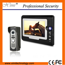"Waterproof out door camera door access control 7"" video door phone intercom system color video doorphone"
