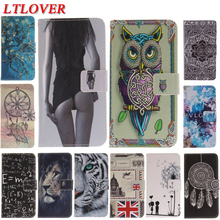 For Lenovo P2 Fashion Girl Tiger Owl Cute PU Leather Magnetic Flip Phone Case For Lenovo Vibe P2 Cases Wallet Card Holder Cover