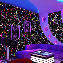 Entertainment place bar magic lights flash circle wallpaper wall cloth hotel restaurant song dance halls home decoration TV back(China)