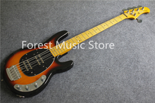 High Quality Vintage Sunburst Glossy Finish 5 String Music Man Electric Bass Guitar For Sale(China)