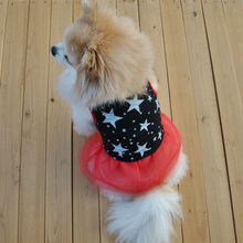 Small Pet Dog Dress Puppy Stars Print Vest Dress Skirts Princess Skirts for Dogs Pet Spring And Summer Dog Clothes D9440