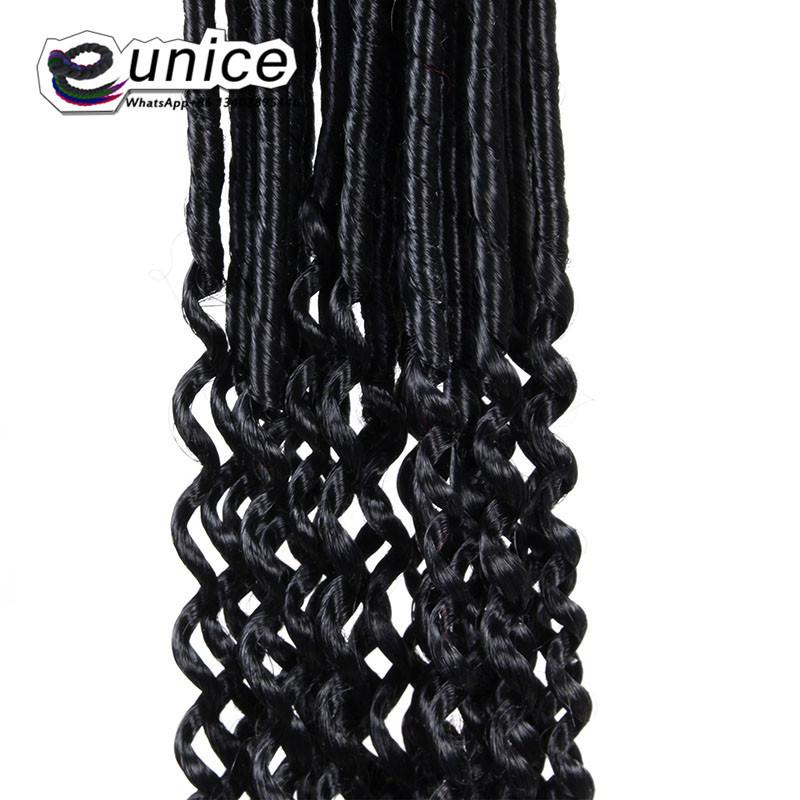 Goddess Faux Locs Crochet Hair Curly Ends Dreadlocks hair extensions  (49)