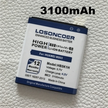LOSONCOER 3100mAh HB5K1H Battery For Huawei Ascend ll 2 M865 Sonic U8650 C8650 U8850 Vision phone Batterie Batterij Bateria(China)