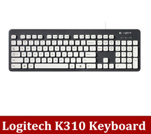 Free Shipping  Logitech K310 Wire waterproof Keyboard  High Quality computer keyboard Washable  Free shipping