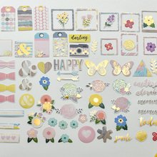 YPP CRAFT 70pc Happy Cardstock Die Cuts for Scrapbooking Happy Planner/Card Making/Journaling Project