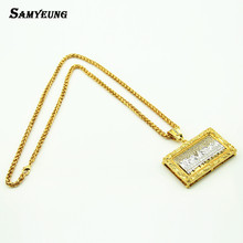 Buy Hip Hop Last Dinner Jesus Necklaces Women Steampunk Gold Link Chain Necklaces Crystal Neckless Woman Rock Jewelry for $14.99 in AliExpress store
