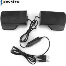 Portable Wired USB Powered Multimedia Computer Stereo Speaker Soundbar for Laptop XP Vista Win 7 Mac and OSX(China)