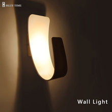 110 220v Acrylic Led Wall Lamp Aluminum Wall Light Lamps Luminarias Wall Lights For Home Stair Light Led Bathroom Lamp