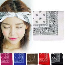 Bandana Headwear/Hair Band Scarf Cow Boy Wrist Wrap Paisley Biker Neck Head Wear Headband multicolor For Women/Mens(China)