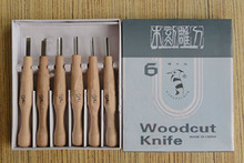 Free Shipping 6pcs Woodpecker PM106 chisel wood carving hand chisel woodworking tools carving tools set