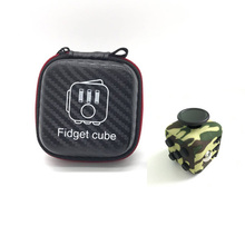 High Quality 1pcs Fidget Cube Original with Zipper Case Puzzles Magic Toys for Birthday Gift with Clickable Ball(China)