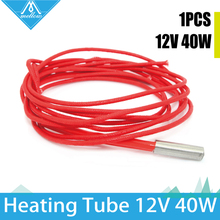 1pcs Makerb / Reprap / Mendel Heating Tube Reprap 12V 40W Ceramic Cartridge Heater for HotEnd J-Head 6*20mm 3D Printer 12V40W