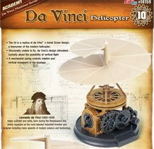 Academy 18159 Da Vinci Machines Series Classic original helicopter Plastic Model Kit