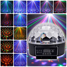 LED Crystal Stage Magic Ball light RGB Lamp 21-Modes DMX Disco DJ Light Party Effect Lights Sound Control stage Projector light(China)