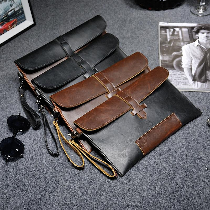 new 2015 fashion men handbag canvas men briefcase casual Hasp envelope bag business men messenger bags men travel bags961(China)